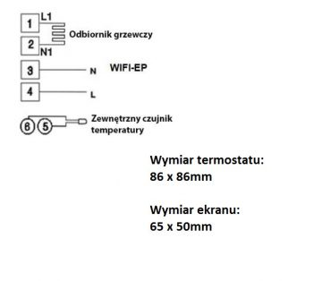 termostat Schild czujnik temparatury sterownik ep21wifi