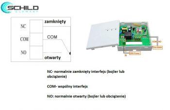 Bezprzewodowy termostat gazowy Schild 306X regulator temperatury pokojowej