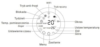 Schild EP-78WiFi sterownik 230V, termostat, czujnik, regulator temparatury pokojowej