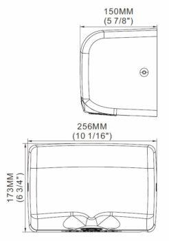 Schild 2510B- cicha, szybka, mocna suszarka do rąk automatyczna bezdotykowa