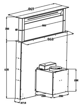 Automatyczny okap kuchenny downdraft wysuwany blatowy SCHILD DK900