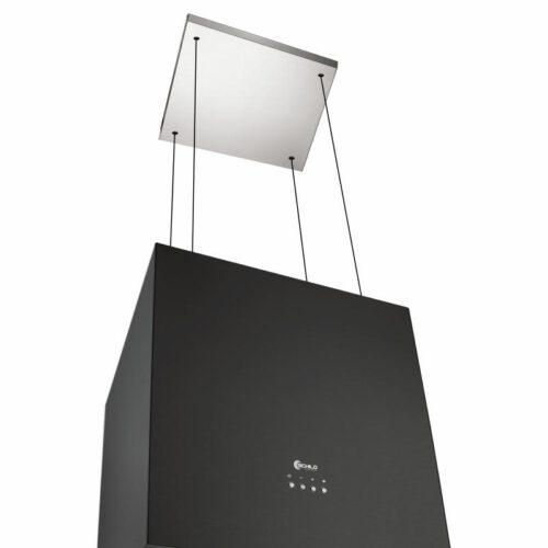 Okap kuchenny wyspowy wiszący 40cm czarny 497m3/h KB400 SCHILD