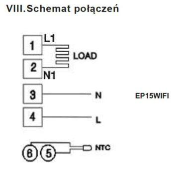 Schild EP-15WiFi sterownik na wyjściu 230V, termostat, czujnik, regulator temparatury pokojowej