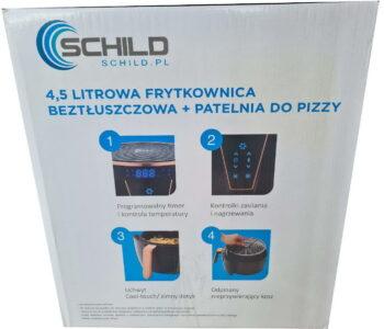 Frytkownica beztłuszczowa 5508CST LED Schild 4,5l 1500W + mini PIZZA patelnia beztłuszczowa 16cm