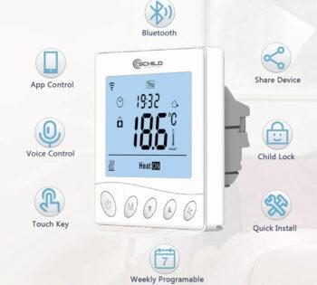 Schild EP-33WiFi sterownik 230V, termostat, czujnik, regulator temparatury pokojowej +czujnik temperatury podłogi/ zewnętrzny w zestawie razem z przewodem - na wyjściu 230V