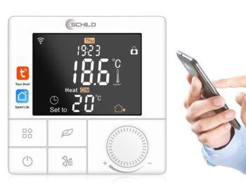 Gazowy Schild BPW-B8WIFI regulator temperatury, czujnik, sterownik, termostat- do pieca gazowego, elektrycznego, na pelet, ekogroszek itd - zwarcie